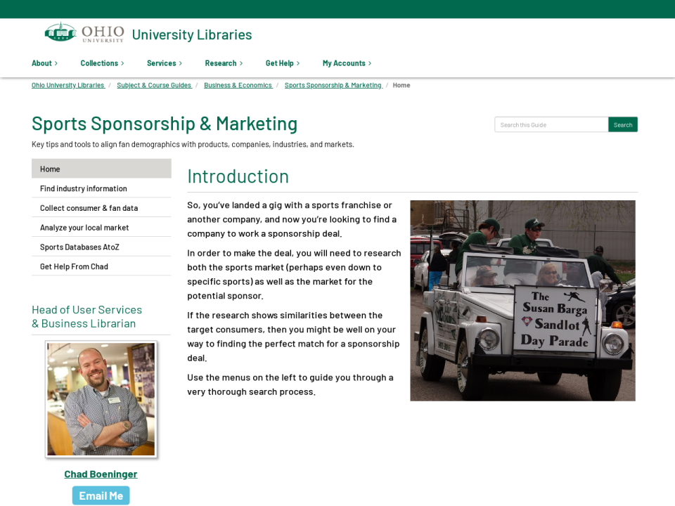 Visit the Sports Sponsorship & Marketing Guide