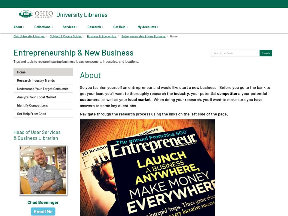 Entrepreneurship & New Business Guide